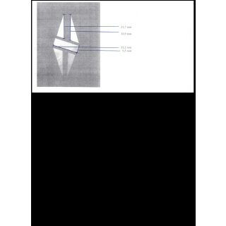 "Kopfplatteneinlage, 5-teilig, Makassar ""split diamond"",  ~ 1,3 mm stark"