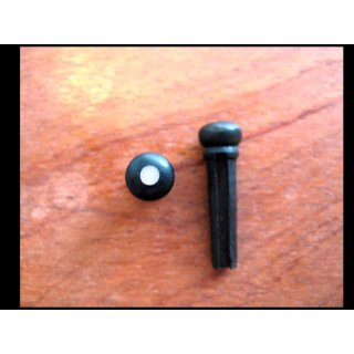 Guitar bridge pin with slot and imiation dot, Gibson model