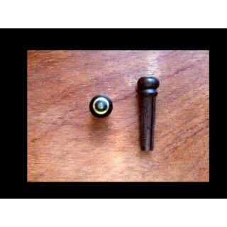 Guitar bridge pin with slot and parisian dot/Abalone