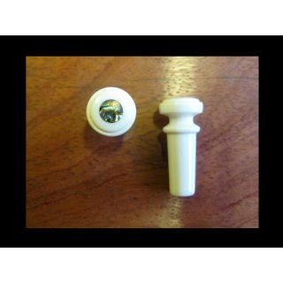 Guitar endpin real mammouth with abalone heart dot, best model