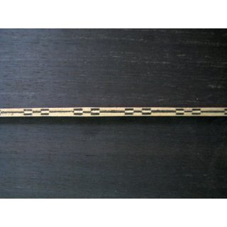 Bottom strip, wood, 3,8x3,3 mm - 60 cm lang