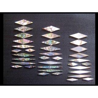 Rauten, Abalone  12-teilig, 1,5 mm stark