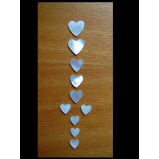Hearts,  10-parts, 1,5 mm stark