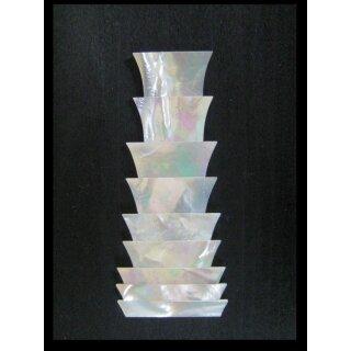 Kronen, spitze Ecken, 9-teilig - 1,5 mm stark