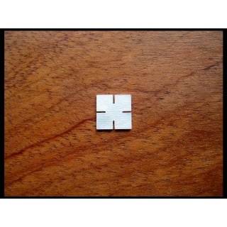 Pearl inlay, white mother of pearl, 6x6 mm