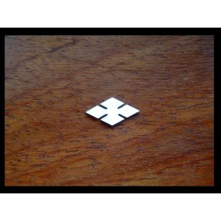 Pearl inlay, white mother of pearl, 13,5x6,5 mm