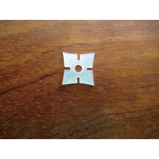 Pearl inlay, white mother of pearl,  ~ 14,8x14,8  mm