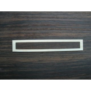 Decoration for classic guitarbridge, rosewood with bone frame