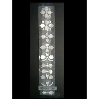 Griffbrettsatz, Makassar weiß, 50-teilig, 1,5 mm stark