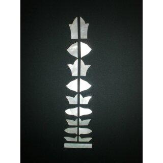 Griffbrettsatz, Makassar weiß, 19-teilig - 1,0 mm stark