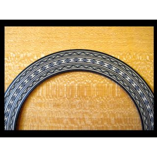 Schalllochverzierung, Holzmosaik 1,0 mm stark