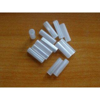 Röllchen, Perlmutterimitation/Acryl ~ 17,0x4,7  mm