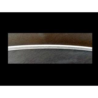 ABS-Binding  -  schwarz/weiss-5-fach, 800x6x4  mm