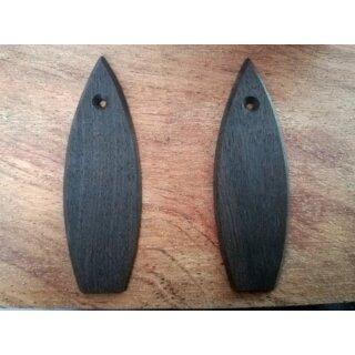 Truss rod covers, ebony, black - Ovation style from old stock