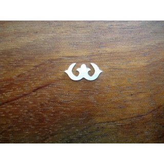 Pearl inlay, white mother of pearl ~ 12,9x5,9 mm