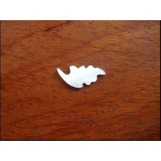 Pearl inlay, white mother of pearl ~ 12,9x5,7  mm