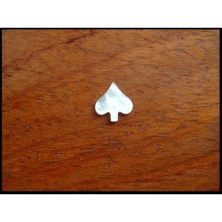 Pearl inlay, white mother of pearl ~ 9,8x8,8  mm