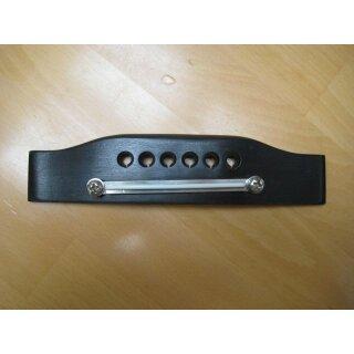 Gitarrensteg, Western 6-saitig, Ebenholz, verstellbarer Metallsattel