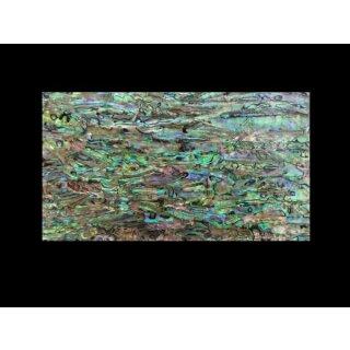 Mother of pearl veneer, abalone green, light