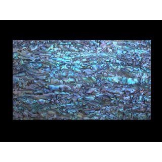 Mother of pearl veneer, paua blue