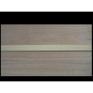 ABS-Binding - creme, 1630  mm long