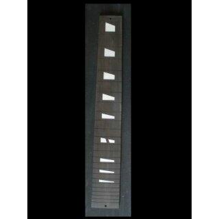 Guitar fingerboard, ebony, rund, white MOP inlays, 24 cuted frets