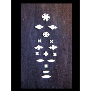 Snowflakes 16-parts - 1.5 mm thick